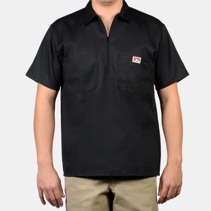 Short Sleeve Solid Shirt - Black, 124