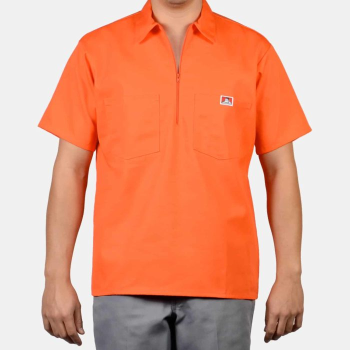 Short Sleeve Solid Shirt - Orange, 126