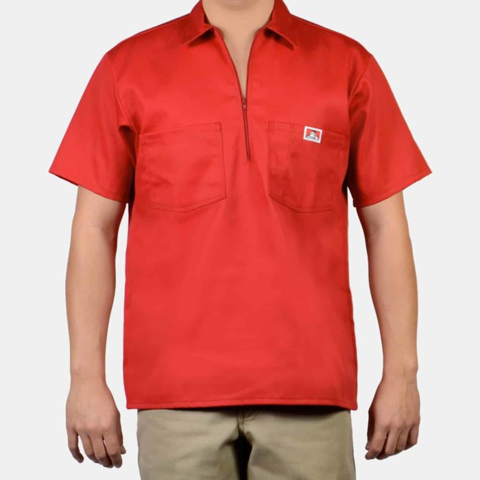 Short Sleeve Solid Shirt - Red, 129