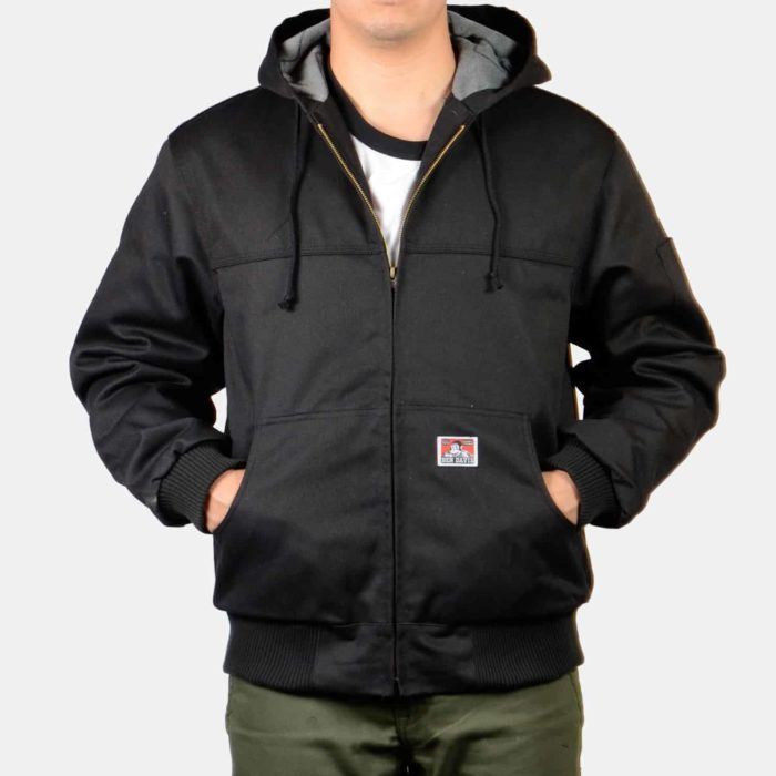 Hooded Fleece Zip Up Jacket - Black, 344