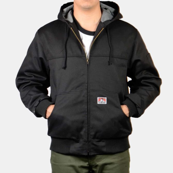 Hooded Zippered Front Jacket