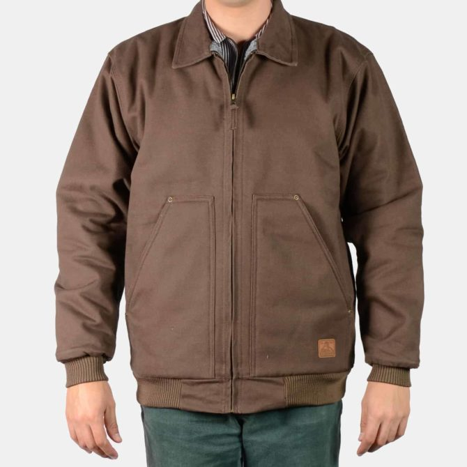Sherpa Lined Jacket – Brown