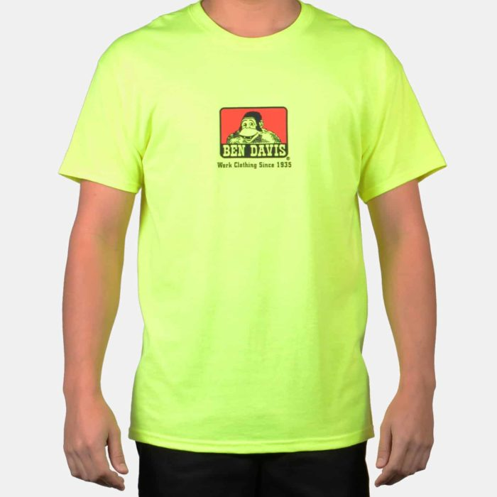 Classic Logo T-Shirt - Safety Green, 9068