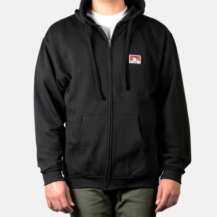 Hooded Zip Sweatshirt - Black, 9034