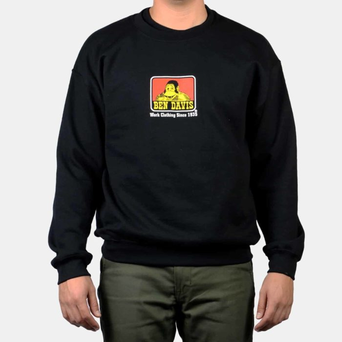 Crew Neck Sweatshirt - Black, 9035