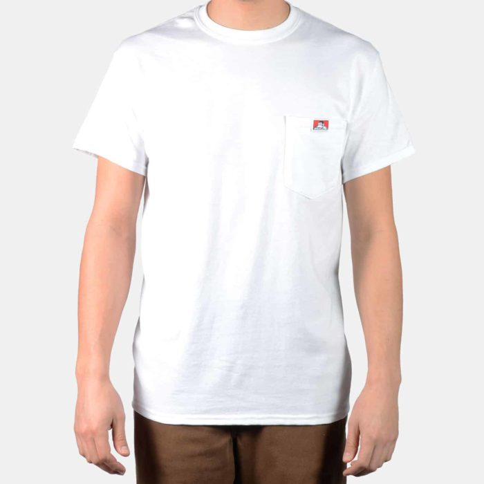 Pocket T-Shirt - White, 9020