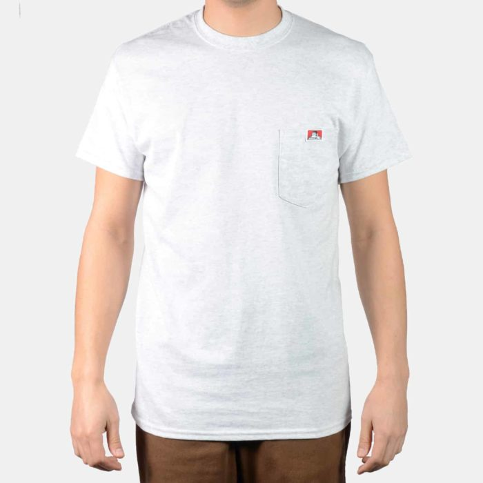 Pocket T-Shirt - Ash Grey, 9023