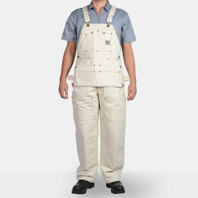 Carpenter Overalls – Natural Duck Canvas