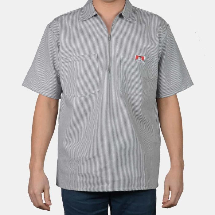 Short Sleeve Stripe Shirt - Hickory, 108