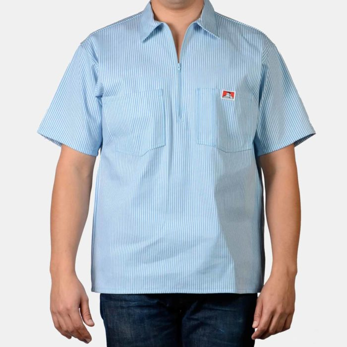 Short Sleeve Stripe Shirt - Blue, 170