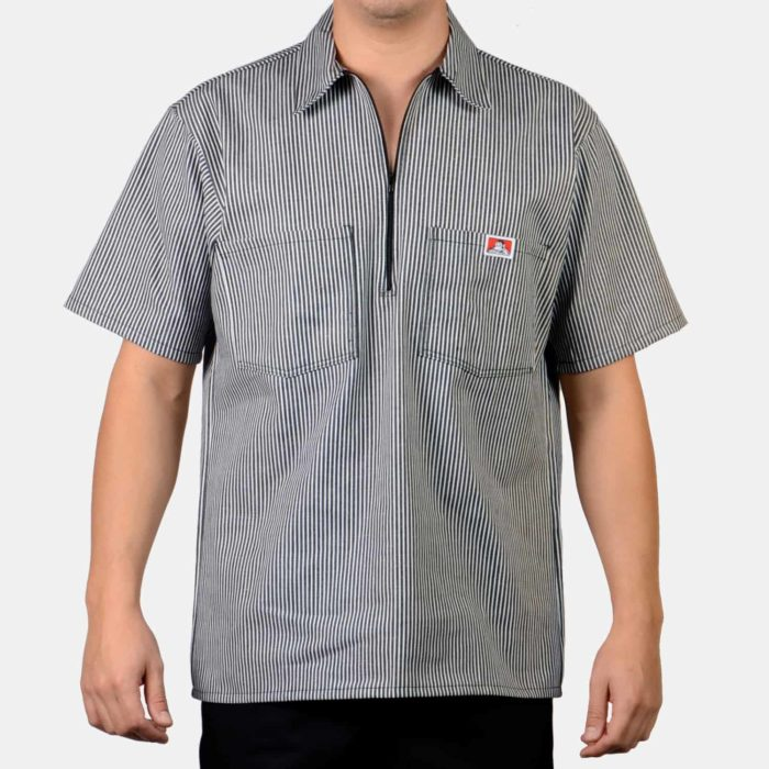 Short Sleeve Stripe Shirt - Black, 176