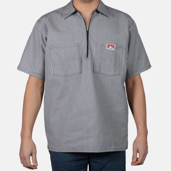 Short Sleeve Stripe Shirt - Navy, 178
