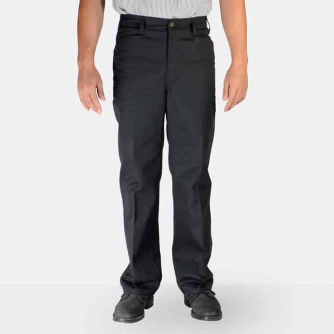 Trim Fit Pants – Black