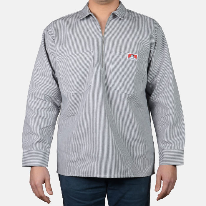 Long Sleeve Stripe Shirt - Hickory, 208