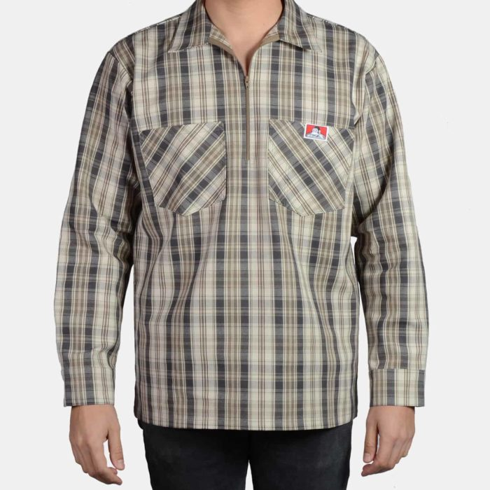 Long Sleeve Plaid - Khaki/Grey, 235