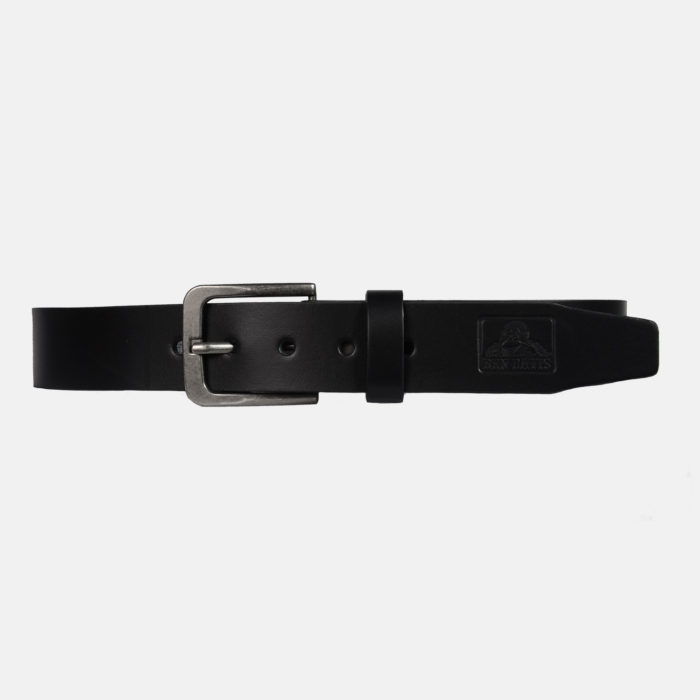 Leather Belt - Black, 9014