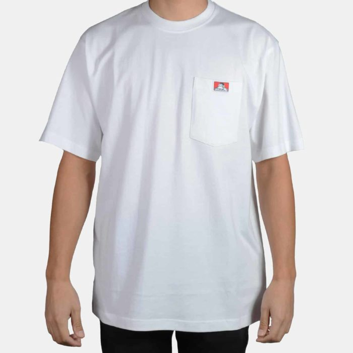 Heavy Duty Short Sleeve Pocket T-Shirt - White, 910