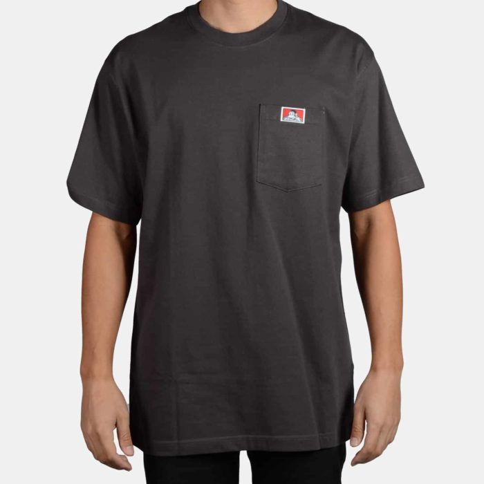 Heavy Duty Short Sleeve Pocket T-Shirt - Charcoal, 911