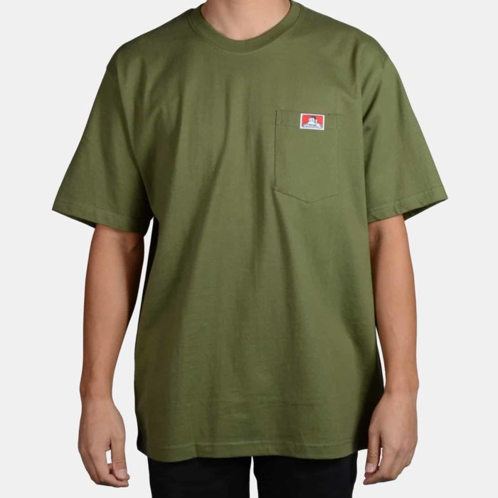 Heavy Duty Short Sleeve Pocket T-Shirt - Olive, 912