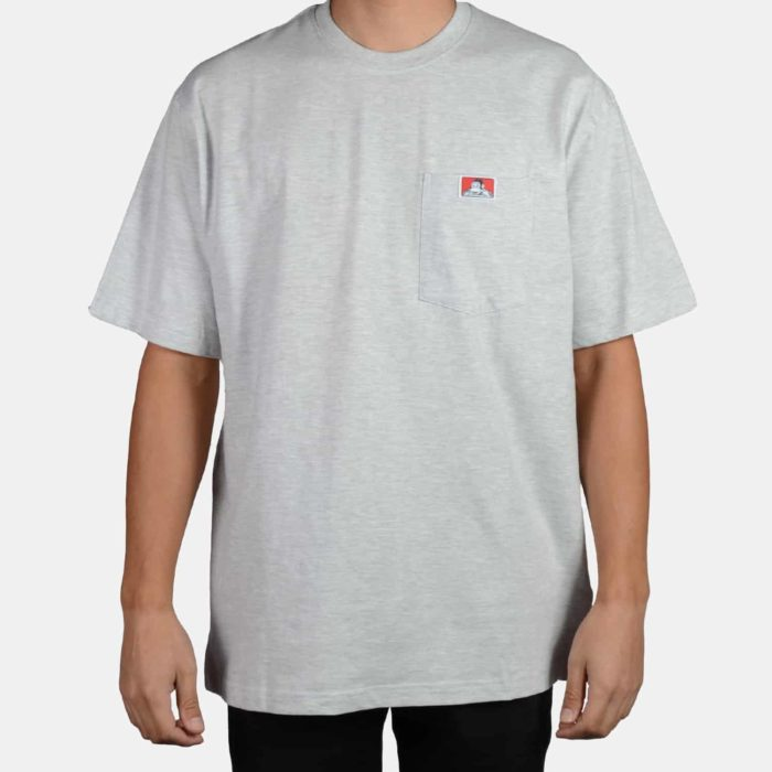 Heavy Duty Short Sleeve Pocket T-Shirt - Ash Grey, 913