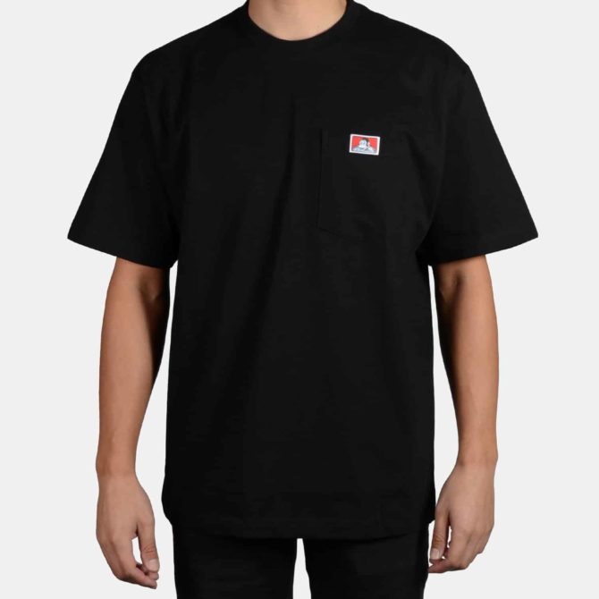 Heavy Duty Short Sleeve Pocket T-Shirt – Black