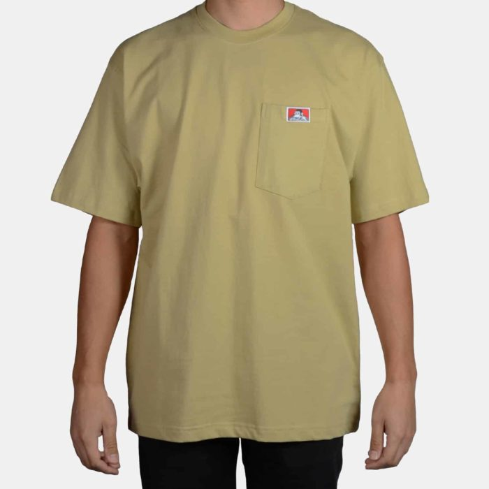 Heavy Duty Short Sleeve Pocket T-Shirt - Khaki, 915