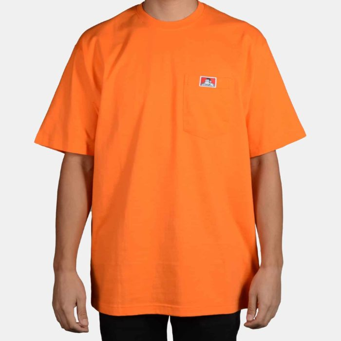 Heavy Duty Short Sleeve Pocket T-Shirt - Orange, 916