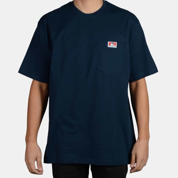 Heavy Duty Short Sleeve Pocket T-Shirt - Navy, 918