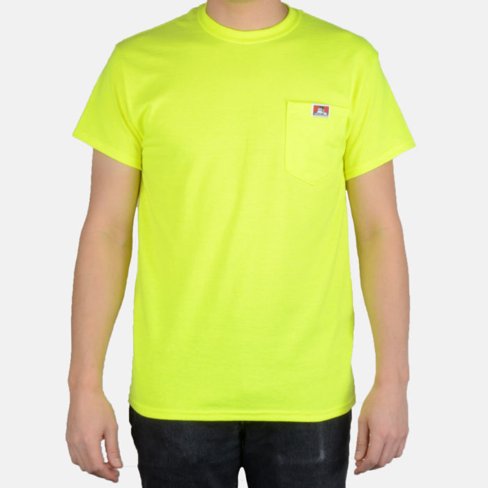 Pocket T-Shirt- Safety Yellow