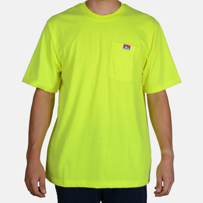 Heavy Duty Short Sleeve Pocket T-Shirt – Hi Vis Green